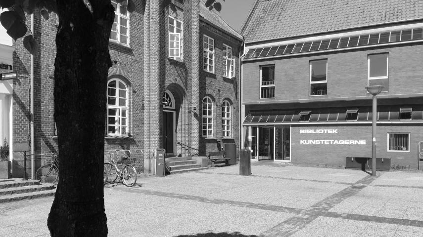 Hobro bibliotek set fra Torvet