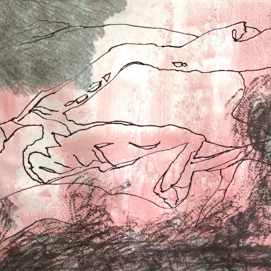 Illustration: Erland Knudssøn Madsen - Etna mennesket er en vulkan (2021)
