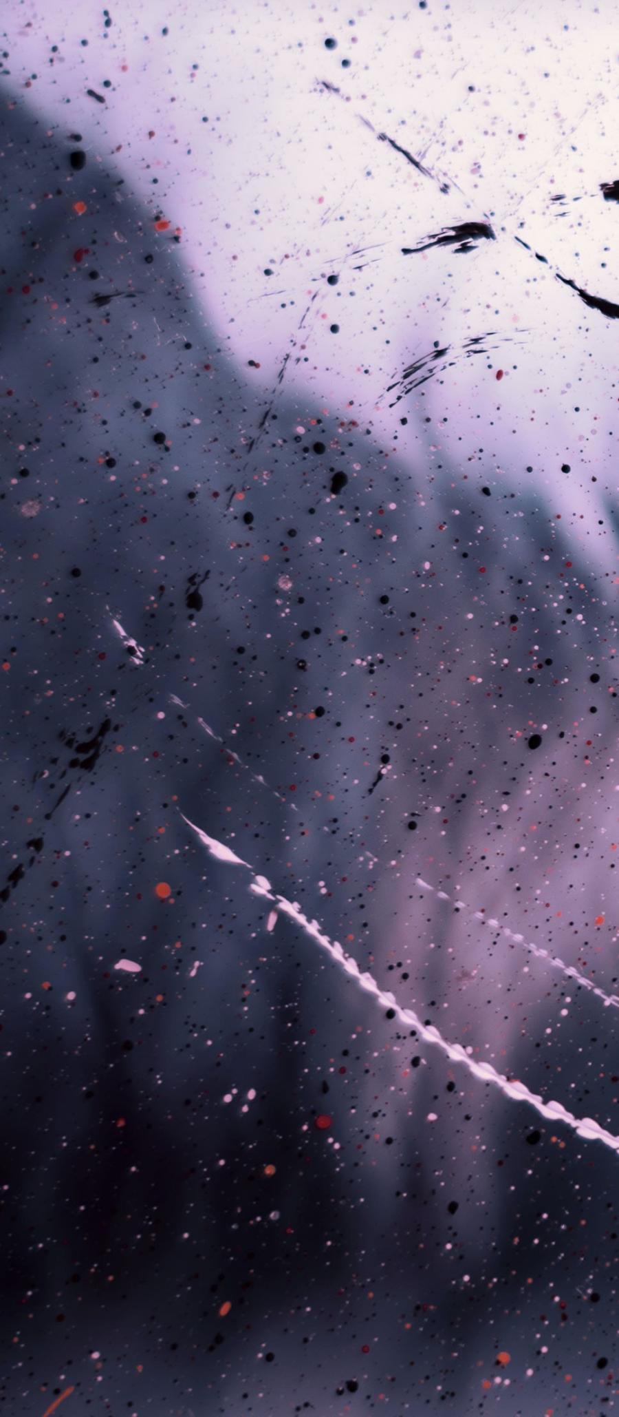 Abstrakt billede i lilla og sorte nuancer